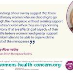 BREAKING NEWS: @BrMenopauseSoc has conducted a new national survey about women's experience of #menopause #TalkMenopause #WorldMenopauseDay