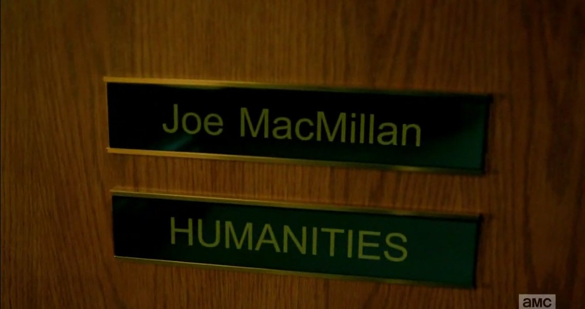 As a #Humanities student myself it was AMAZING to see #JoeMac as Humanities Prof.  Wish I was in his class  #LeePace #HaltandCatchFire <br>http://pic.twitter.com/hTVobwXO6a
