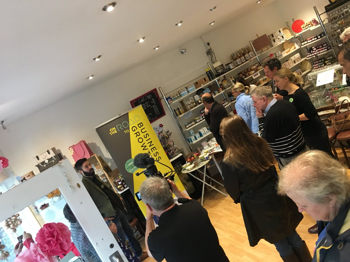 Packed morning networking in Delicia Deli in Wadebridge #TownTakeover <br>http://pic.twitter.com/QQA0KQLRSX