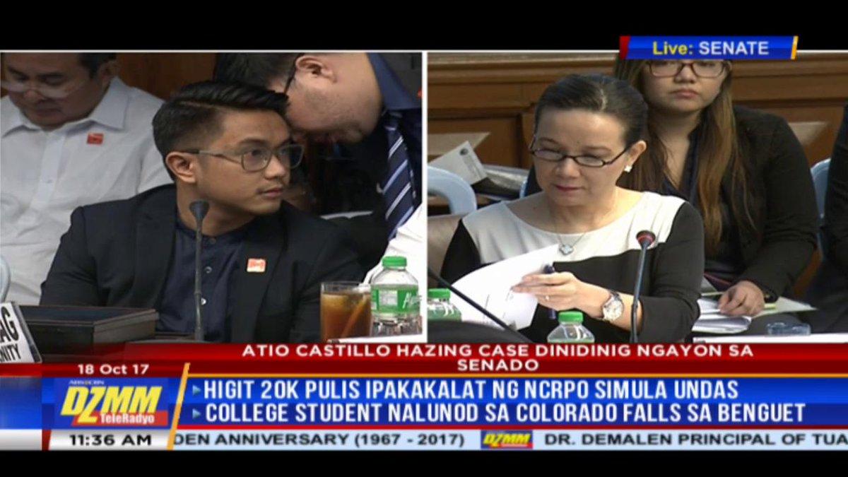 PANOORIN: Ipina-contempt ng Senado si Arvin Balag matapos tumangging sagutin ang mga katanungan kaugnay sa pagkamatay ni Atio Castillo.
