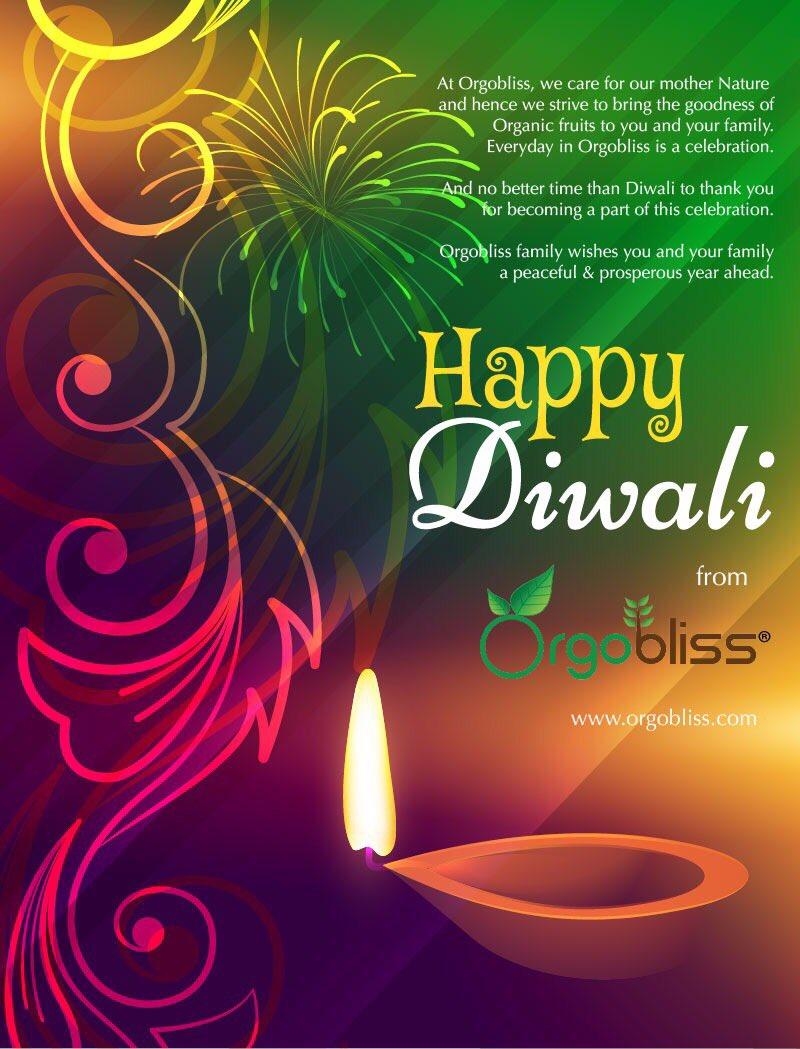 Vanitha Vr On Twitter Diwali Greetings From Orgobliss Family