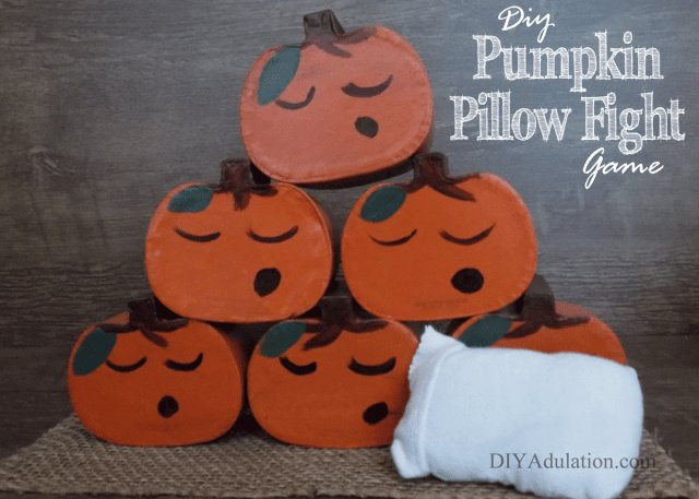 Let kids have fun knocking towers over with this easy DIY pumpkin pillow fight game! #diy #pumpkingame #partygame  https:// diyadulation.com/diy-pumpkin-pi llow-fight-game/ &nbsp; … <br>http://pic.twitter.com/HACIZuAkhu