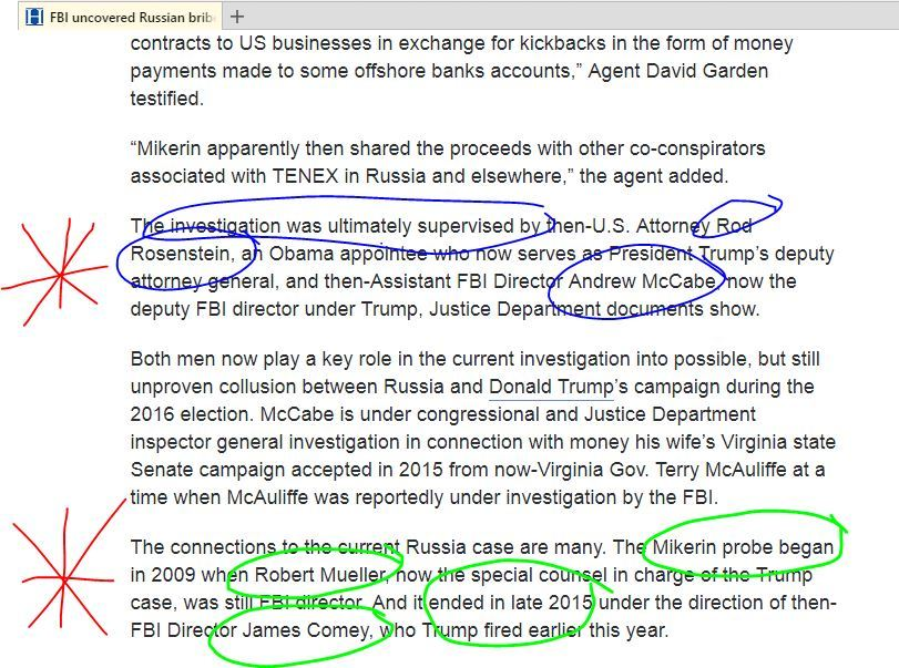 Mueller, McCabe and Rosenstein were ALL involved in covering up @BarackObama&#39;s/@HillaryClinton&#39;s bribery plot with #Russia. #ClintonRussia <br>http://pic.twitter.com/cS2uMOsWGT