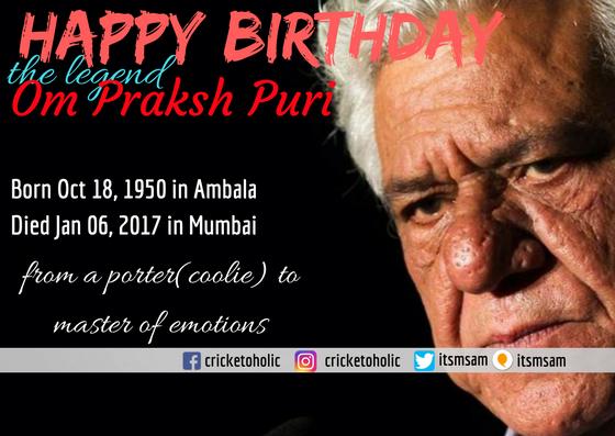 Happy Birthday Om Puri Sir. A man of creative arts.