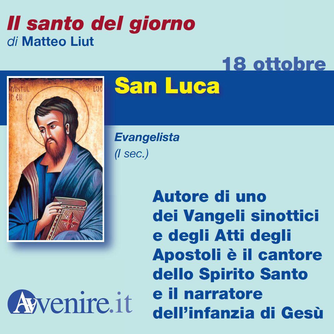 #18ottobre  San Luca. Autore di un Vangelo e degli Atti degli Apostoli...