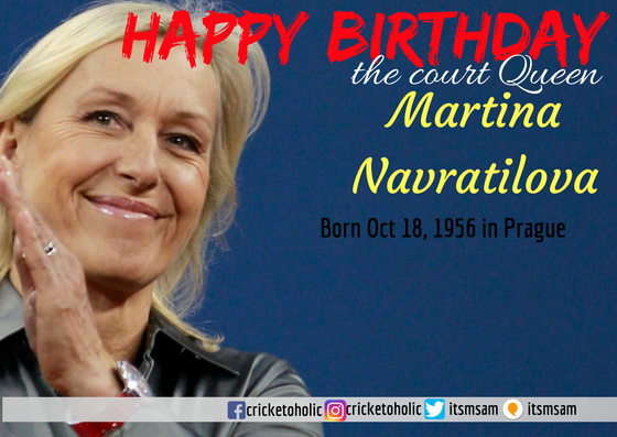 Happy Birthday tennis court Queen Martina Navratilova.