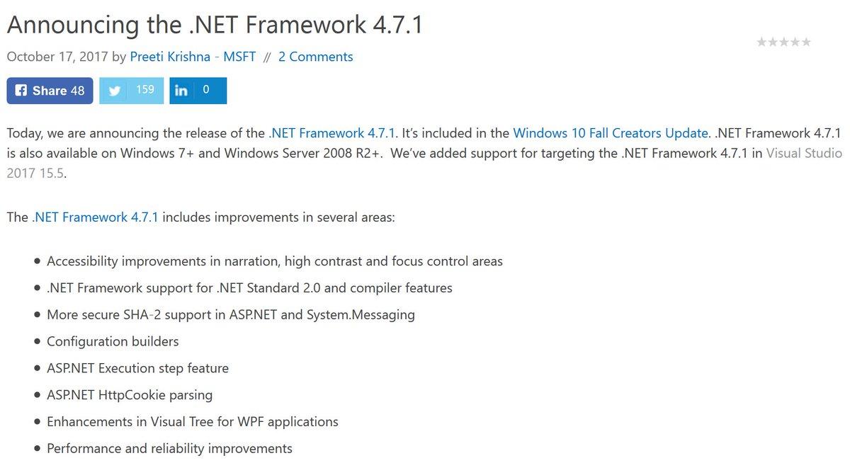 net framework 4 7 windows 10