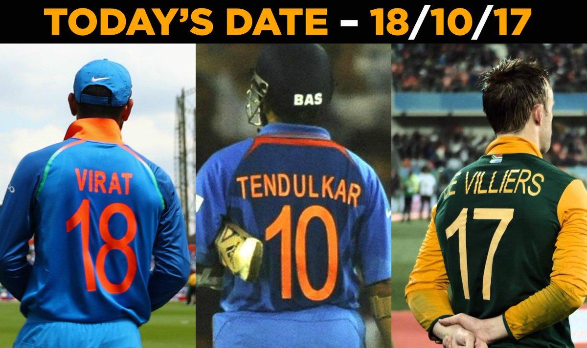 Virat Kohli, Sachin Tendulkar & AB de Villiers' jersey numbers for...