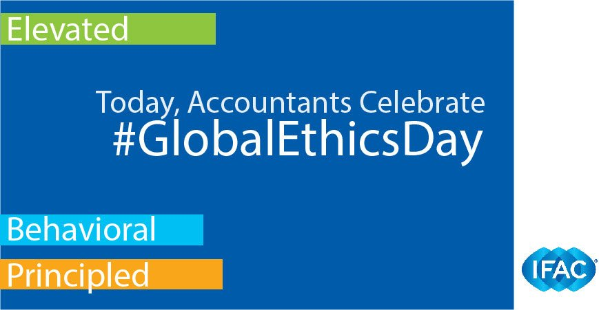 Today is #GlobalEthicsDay! Accountants globally celebrate #businessethics by integrating #ethical standards into everything we do! <br>http://pic.twitter.com/mcs5KVuBGe