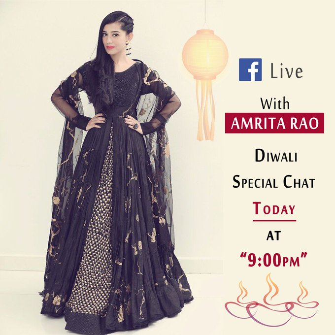 Celebrate Diwali with A Live Chat with Amrita Rao!!  #diwalispecial #chatwithamrita #staytuned https://t