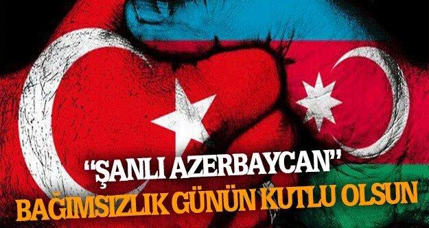 Azerbaycan'ımızın Bağımsızlık Günü kutlu olsun. QARDAŞ ÖLKƏ  Cân #Azer...