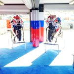 Garage-showroom @pramacracing at #australiangp @MotoGP @ausmotogp Special guest... 🌞
