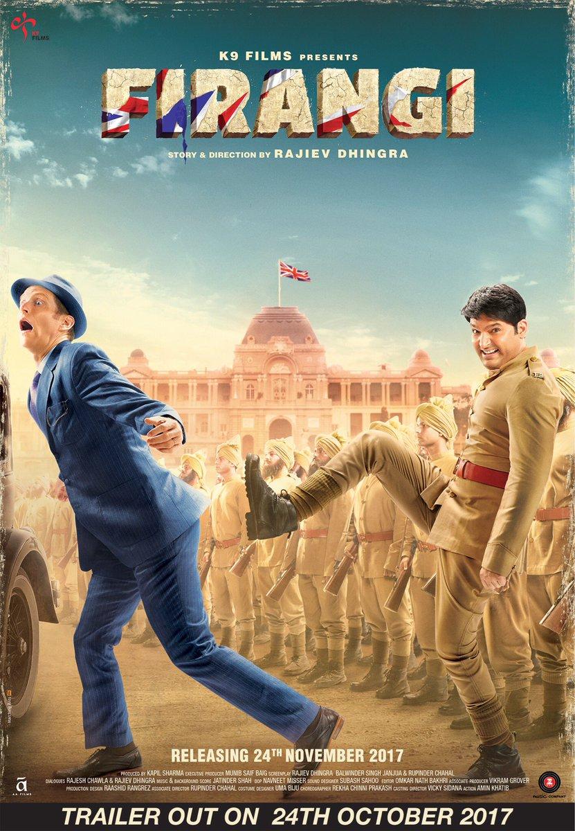 Here is the poster of #Firangi starring @KapilSharmaK9 @ishidutta &amp; @Monica_Gill1. Directed by @dhingra_rajiv. #Bollywood #Films #Cinema<br>http://pic.twitter.com/xlv5GANuMg