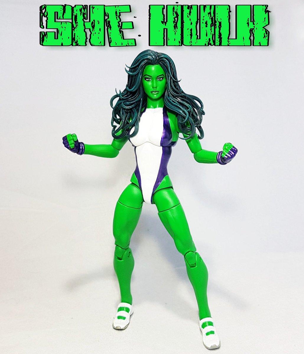 The sensational she hulk made for a client here in Australia enjoy  #shehulk #hulk  #marvellegends #customactionfigure #marvel #marvelcomics<br>http://pic.twitter.com/mdsGh1lWSV