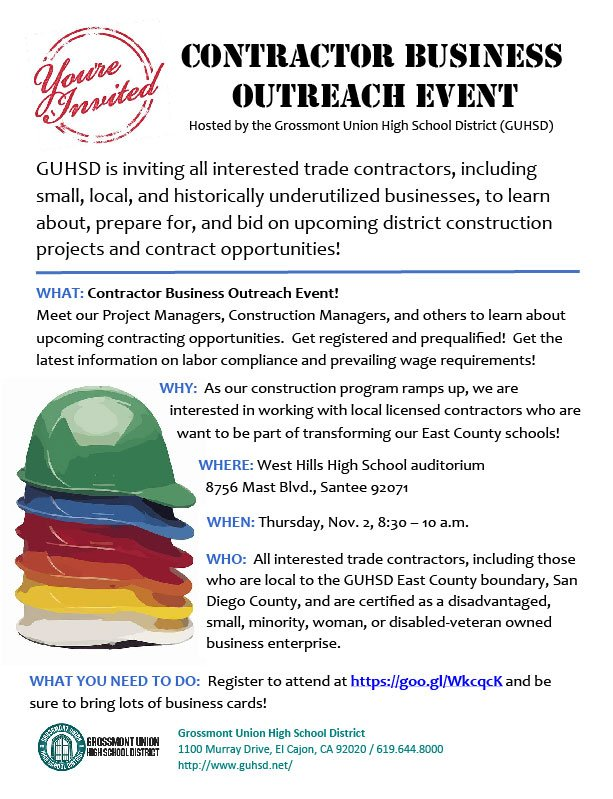 Guhsd schools on twitter rsvp today guhsd is hosting a guhsd is hosting a contractor business outreach event on november 2 details here httpstoqun20xu2q httpst7ga94glqwf reheart Image collections