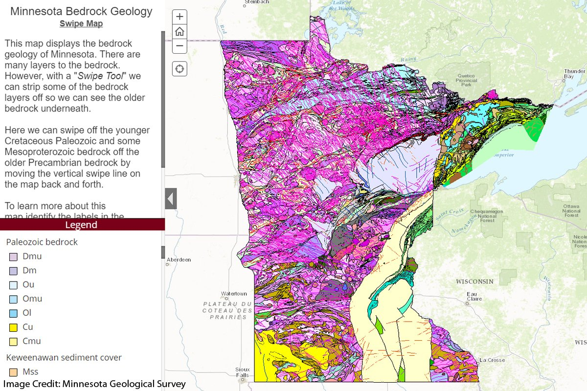 California Map Fault Lines%0A Minnesota Geol Survey u    s gorgeous interactive map of Minnesota u    s bedrock  geology  https   www