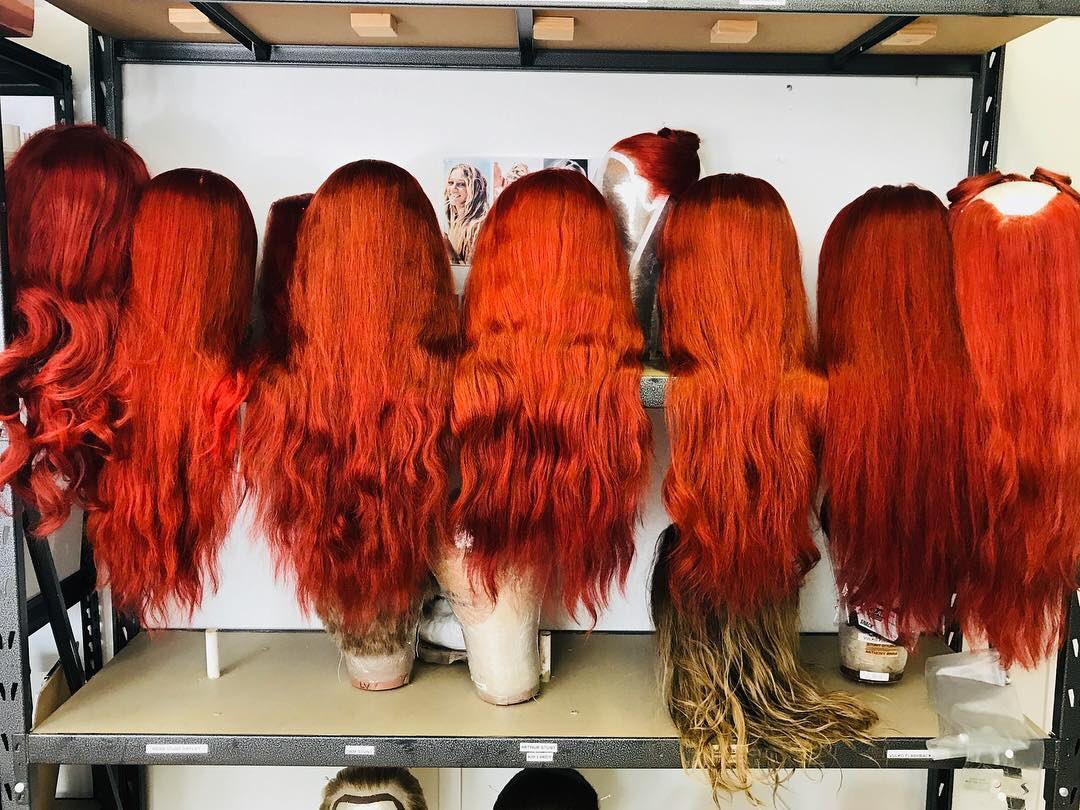 amber heard red hair