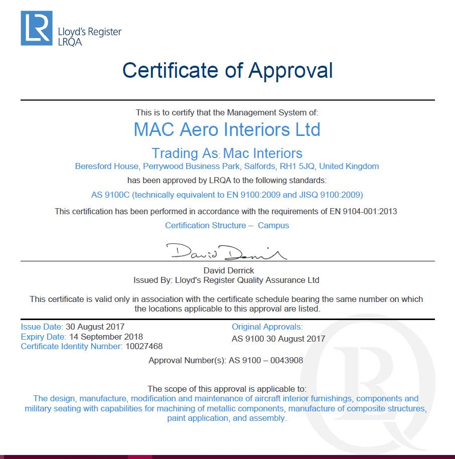 Mac interiors ltd on twitter mac interiors are proud to announce mac interiors ltd on twitter mac interiors are proud to announce they are now as9100 certified we have been approved by lrqa 1betcityfo Gallery