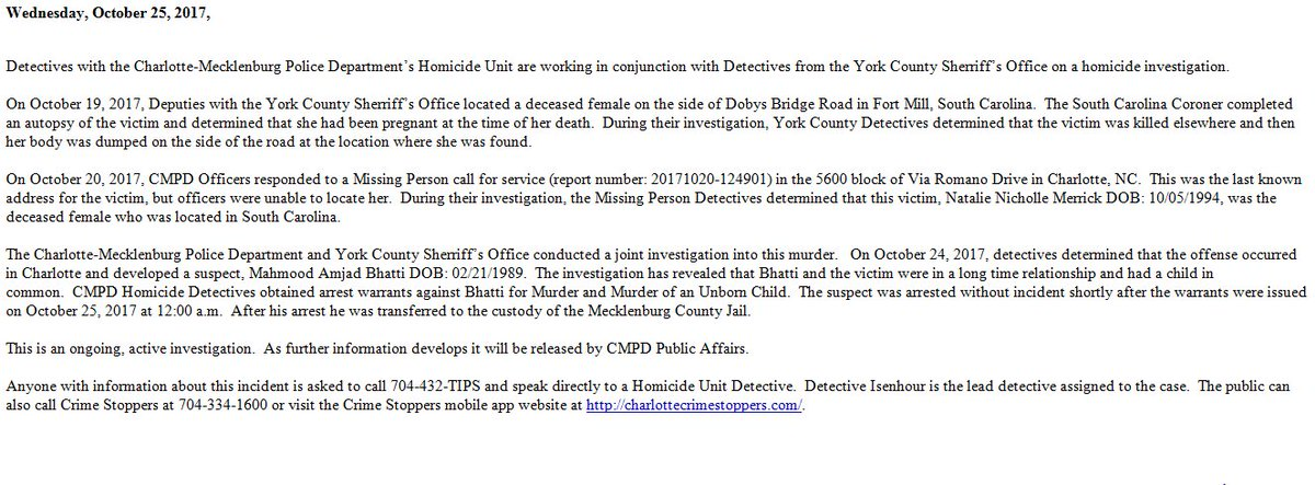 york incident report