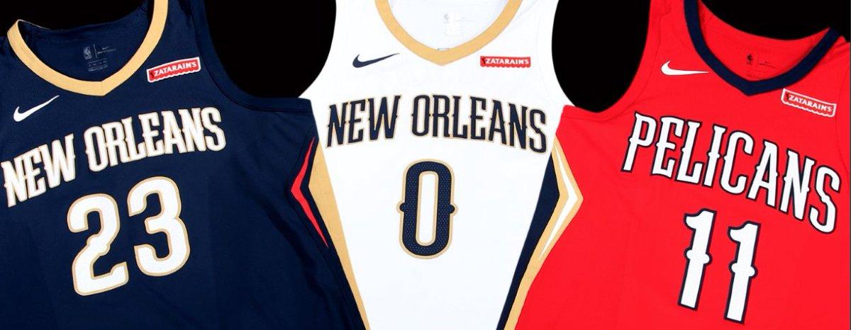 Los New Orleans Pelicans firmaron con Zatarains para su camiseta