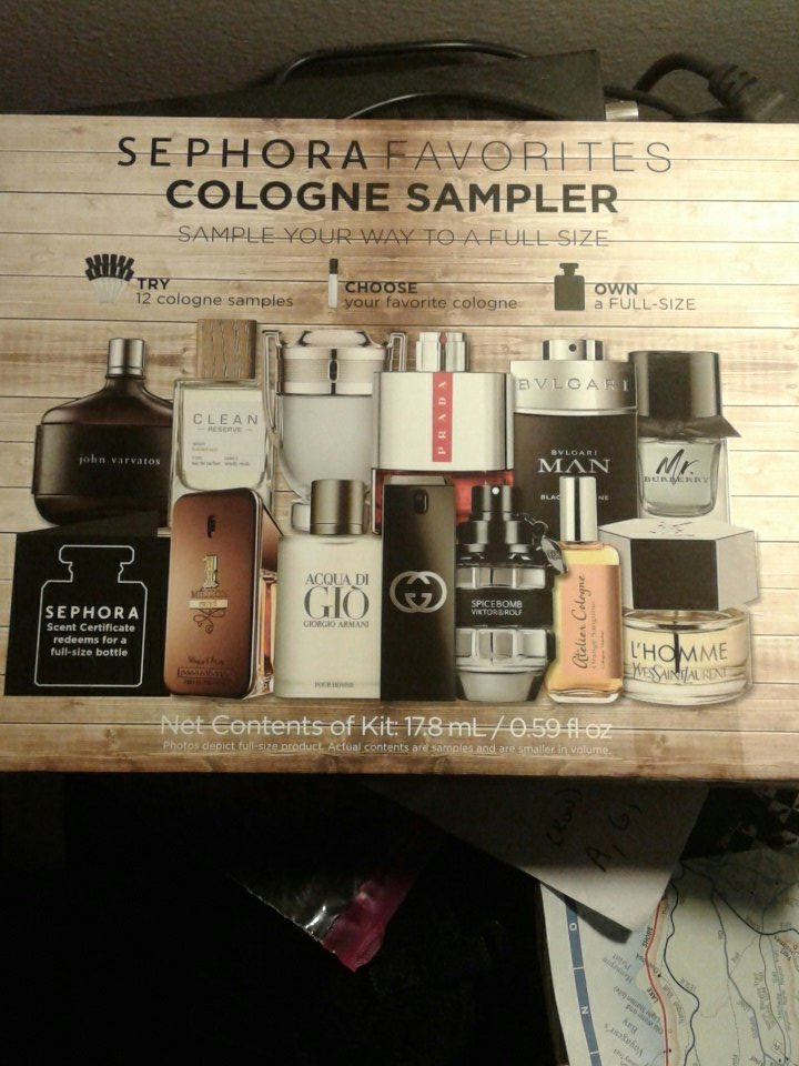 Hell yeah. Assorted Cologne sampler from #sephora . Excellent birthday gift for a cacti.  <br>http://pic.twitter.com/gFNlTL80yQ