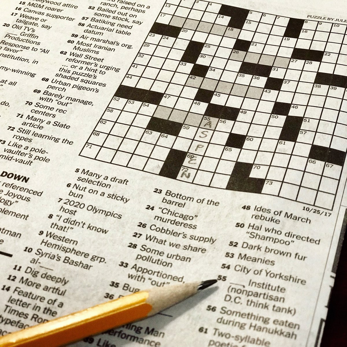 It's national #CrosswordPuzzleDay ✏️ ! #Tbt to when we were featured in the @NYT_Crossword ✏️
