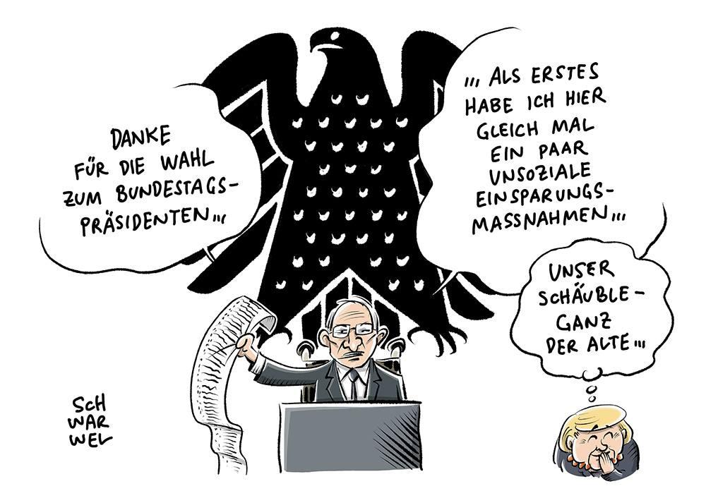 Bildergebnis für Bilder Schäuble Karikatur