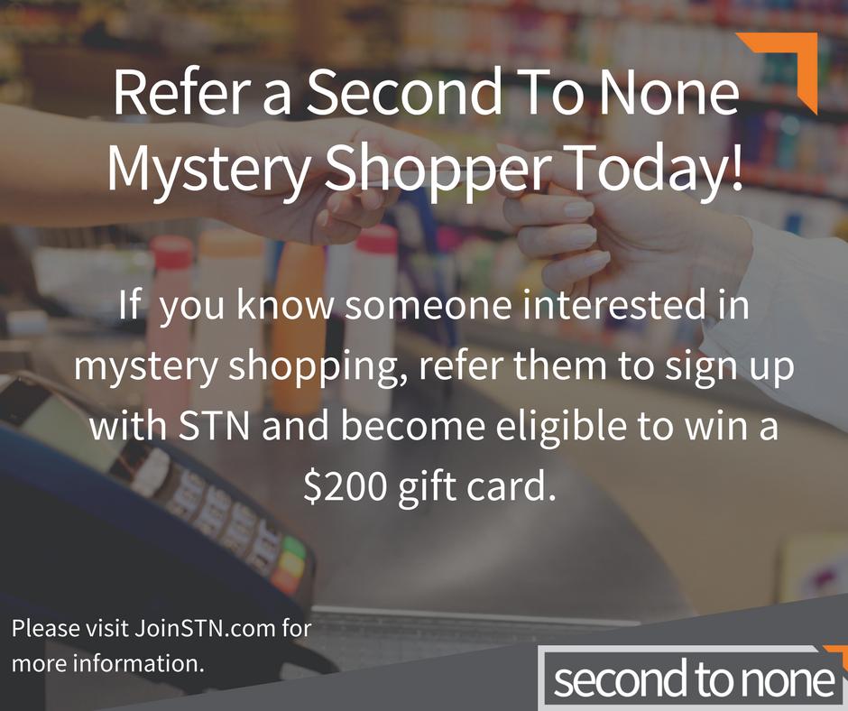 Second to none secret shopper