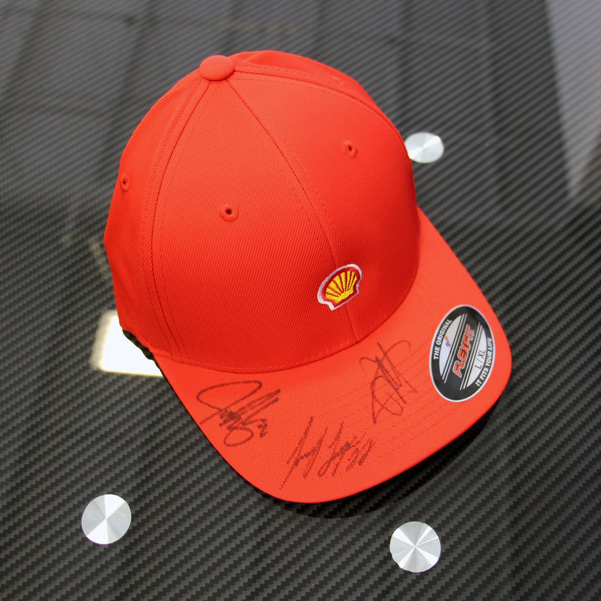 #WinItWednesday is back with a signed #SebastianVettel, myself & @josefnewgarden @Shell hat. #TeamJL