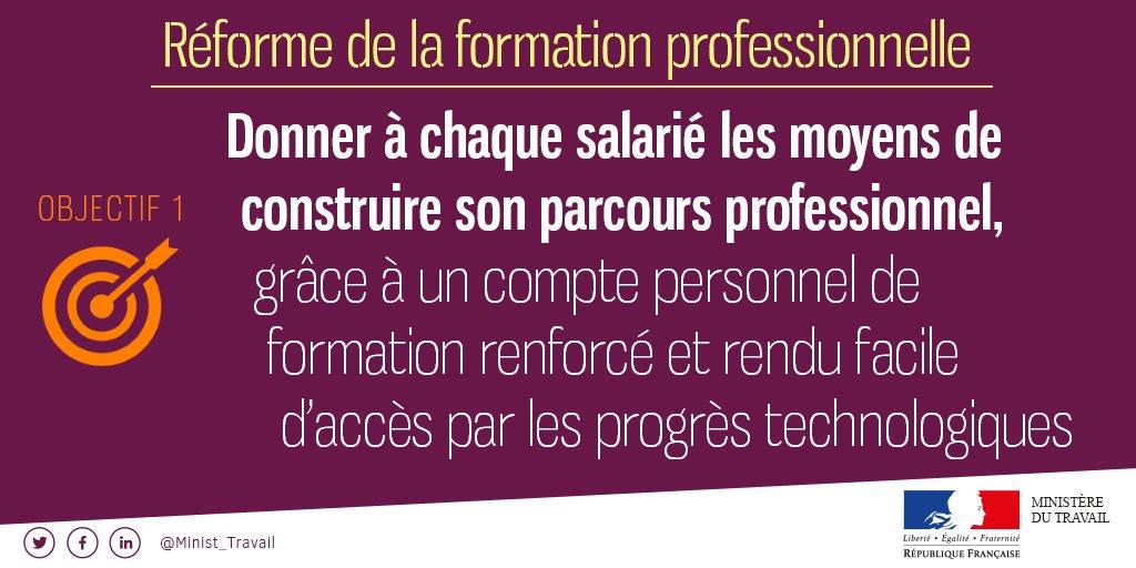 La réforme de la formation professionnelle s'articule autour de 4 objectifs #FormPro
