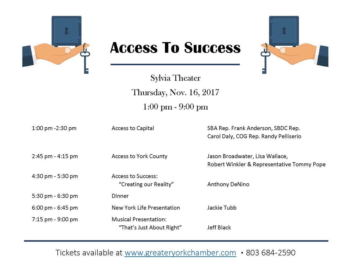 If you're a small business owner in York County, make sure to register for Thursday's Access to Success event at the Sylvia Theater!  https://t.co/MhpmfqwFDd