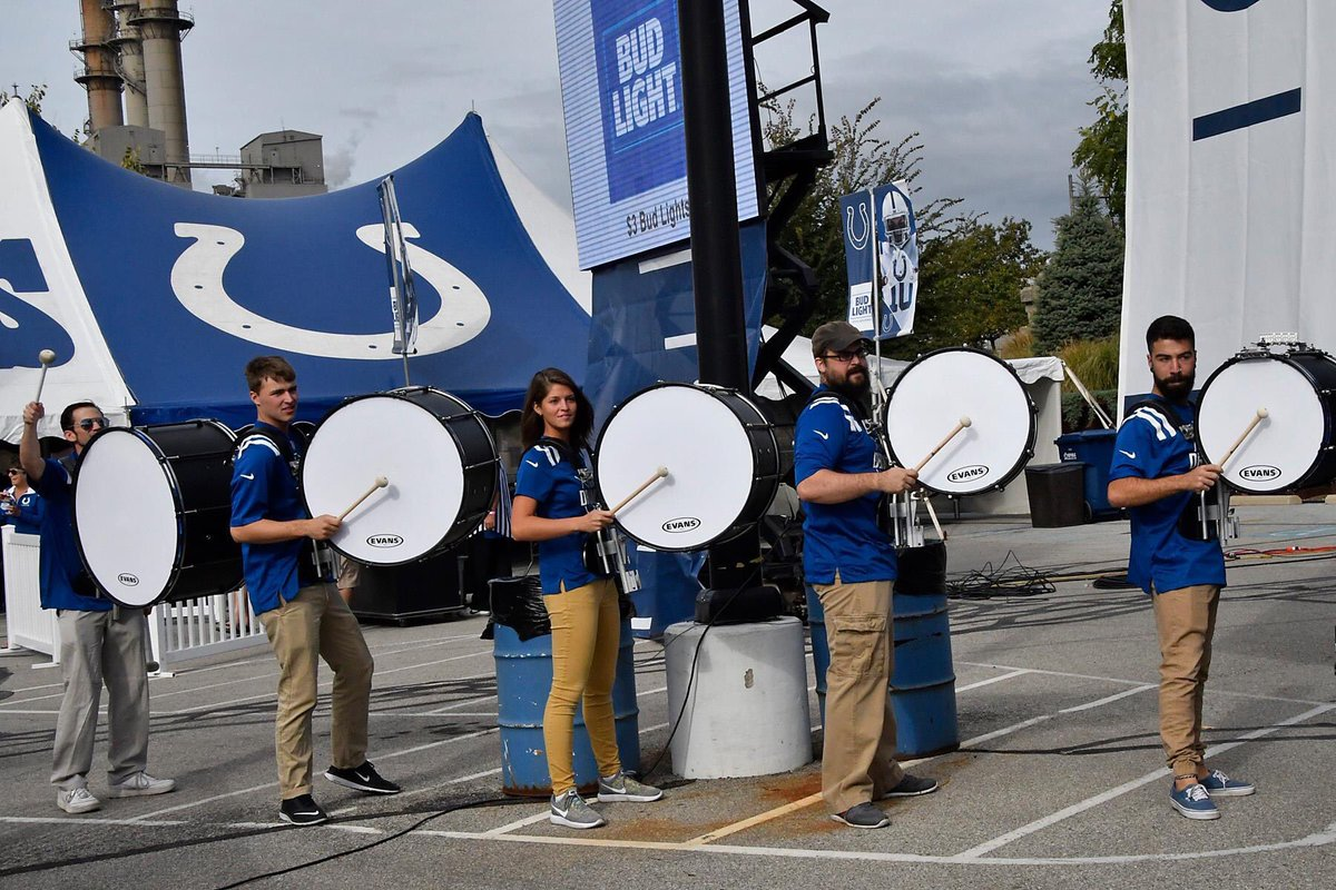 System Blue On Twitter The Colts Drum Line Proudly Perform Professional Marching Percussion Tco H9HdFhRDD7 PCJon Braude