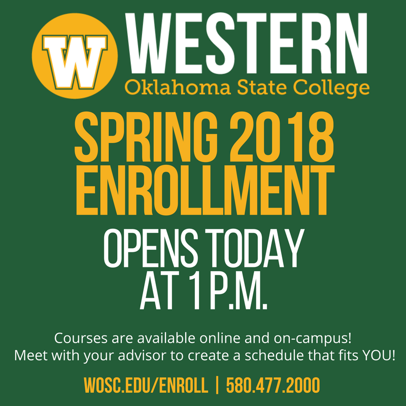 Western Oklahoma State College On Twitter Spring 2018 Enrollment
