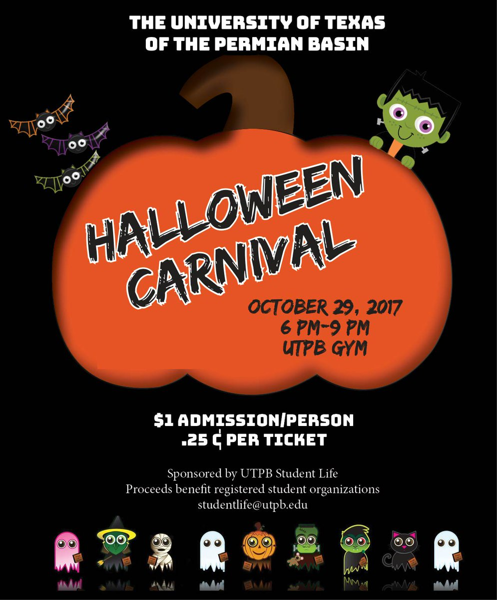 "ut permian basin on twitter: ""the annual halloween carnival is"