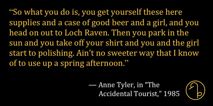Happy Birthday American novelist, short story writer, and literary critic Anne Tyler (October 25, 1941- )