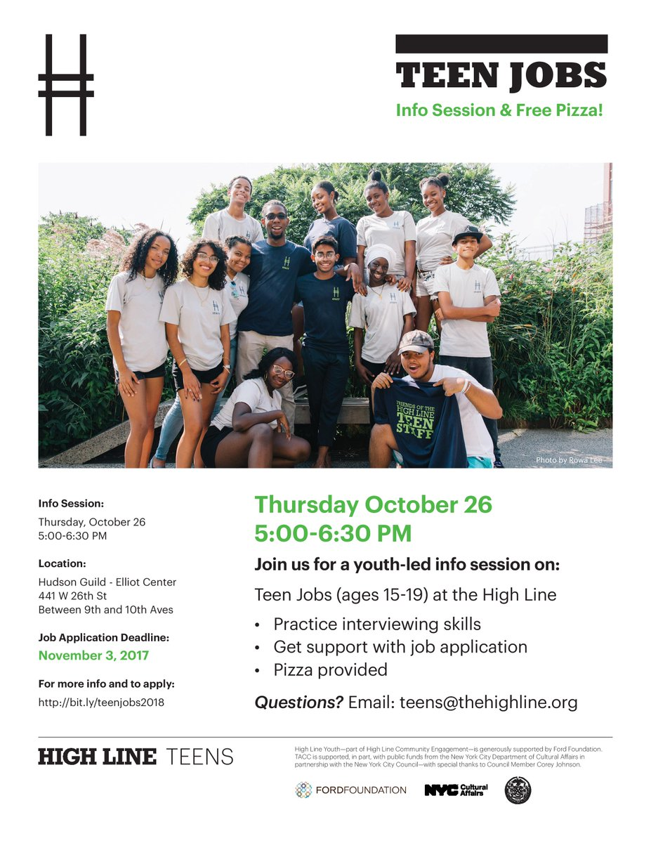 their teen jobs program these jobs pay local youth ages 15 19 13 an hour for work in arts and social justice urban gardening and food justice