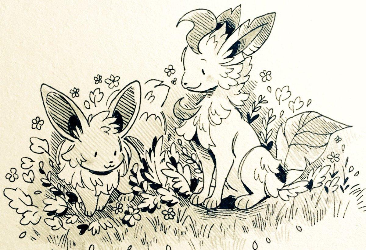 Garden friends  #Pokemon #Eevee #Leafeon<br>http://pic.twitter.com/SHeVSkFQSn