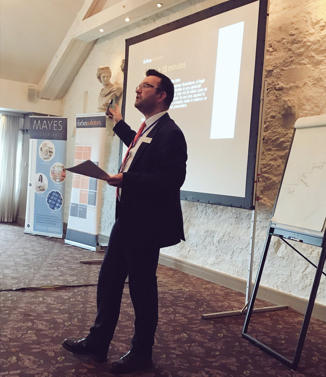Next up the man who makes #GDPR fun @ForbesSolicitor Daniel Milnes #LBGF @Mayesaccountant @CBPartners_CIC<br>http://pic.twitter.com/MlHh1Oojqx