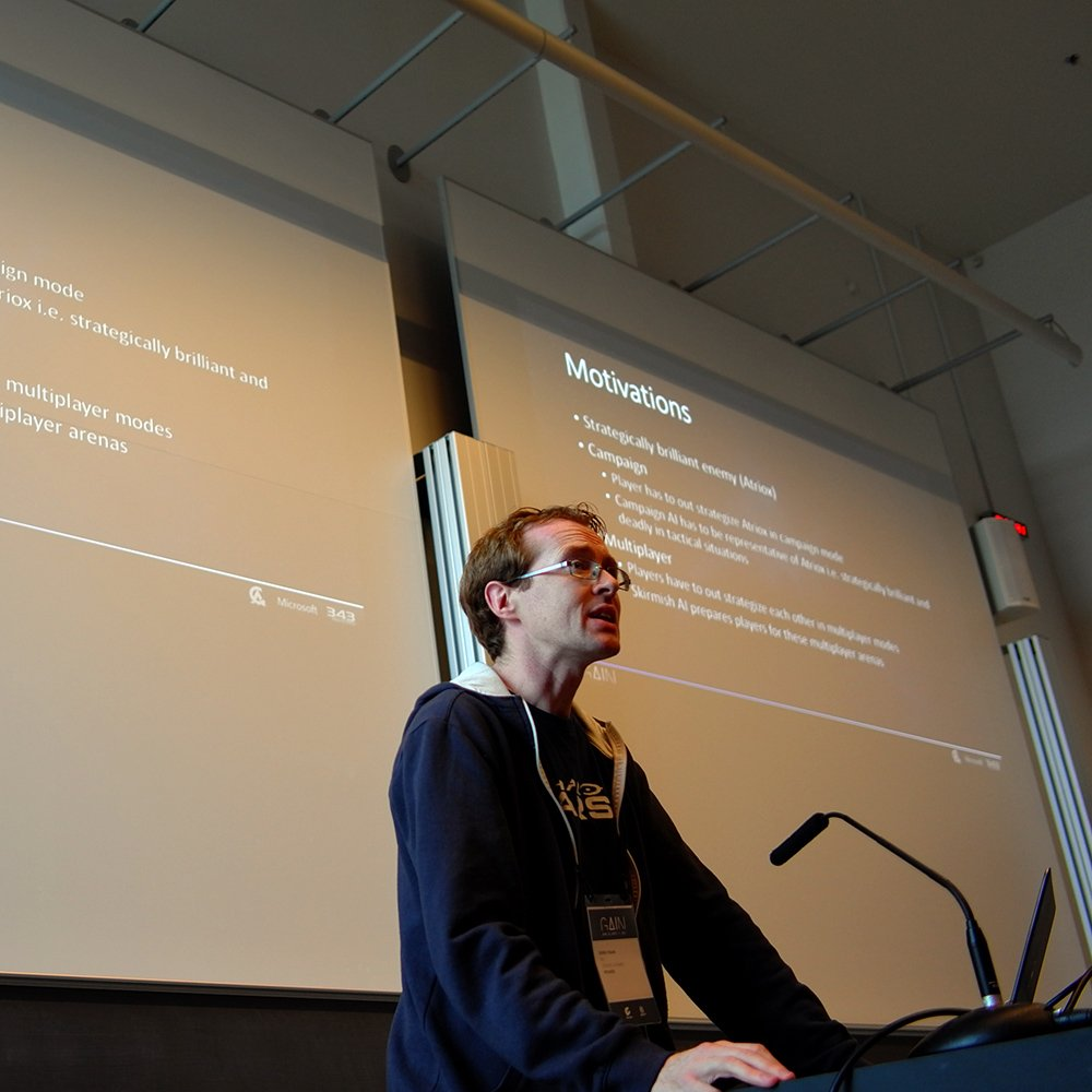 Derek Fagan describes the workings of the Commander AI of Halo Wars 2. #gain17 <br>http://pic.twitter.com/koPqBE0lLh
