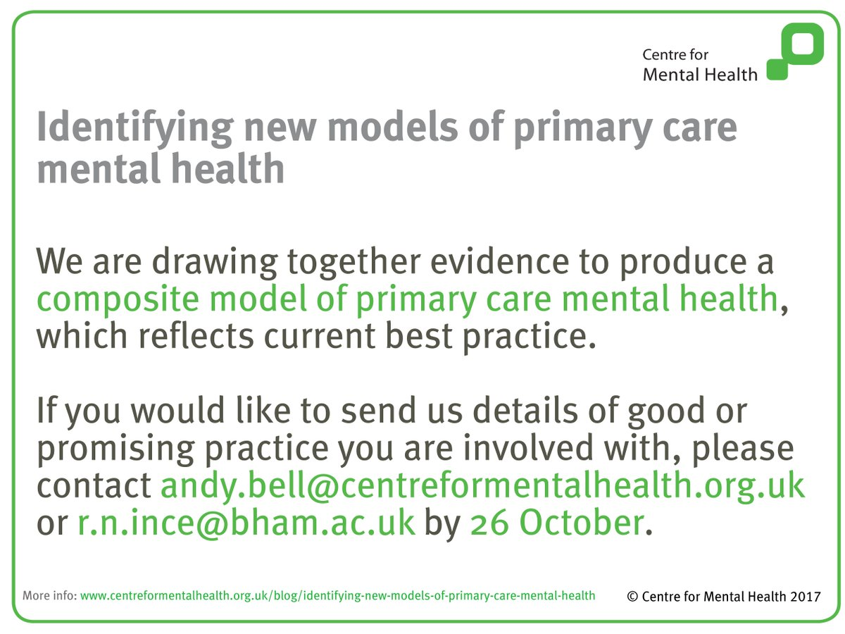 Centreformh On Twitter Were Looking For Examples Of Good Practice