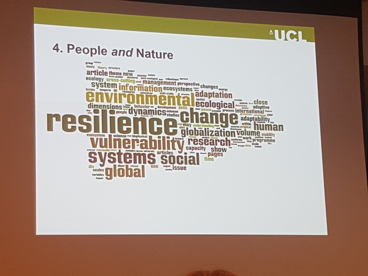 Importance of understanding the link between people and nature #ecosystemservices #benefits #value #ValNat17<br>http://pic.twitter.com/7rxNW3Pill