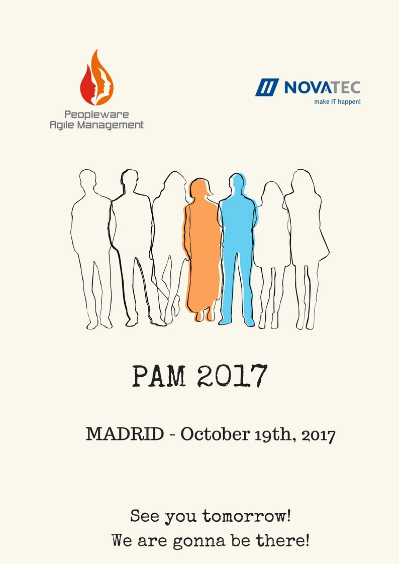 Tomorrow is the BIG DAY, #PAM2017! #Management 3.0 #agilemanagement  @novatecgmbh @agilegranada  @mruiz__ will give a speech. CAN&#39;T WAIT! :)<br>http://pic.twitter.com/LsnTS2SHyC