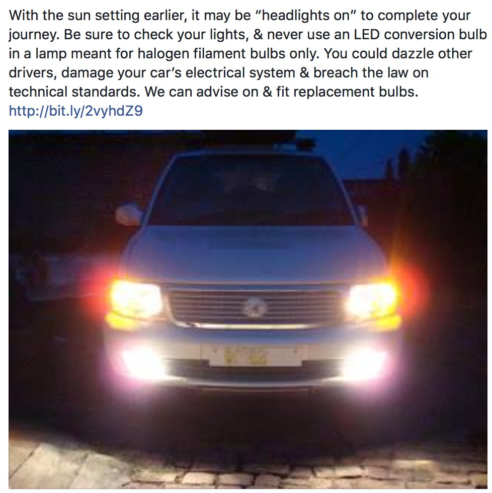 With it getting darker much earlier now, you&#39;re probably using your #headlights more often  http:// bit.ly/2vyhdZ9  &nbsp;  <br>http://pic.twitter.com/73sag3AUE8