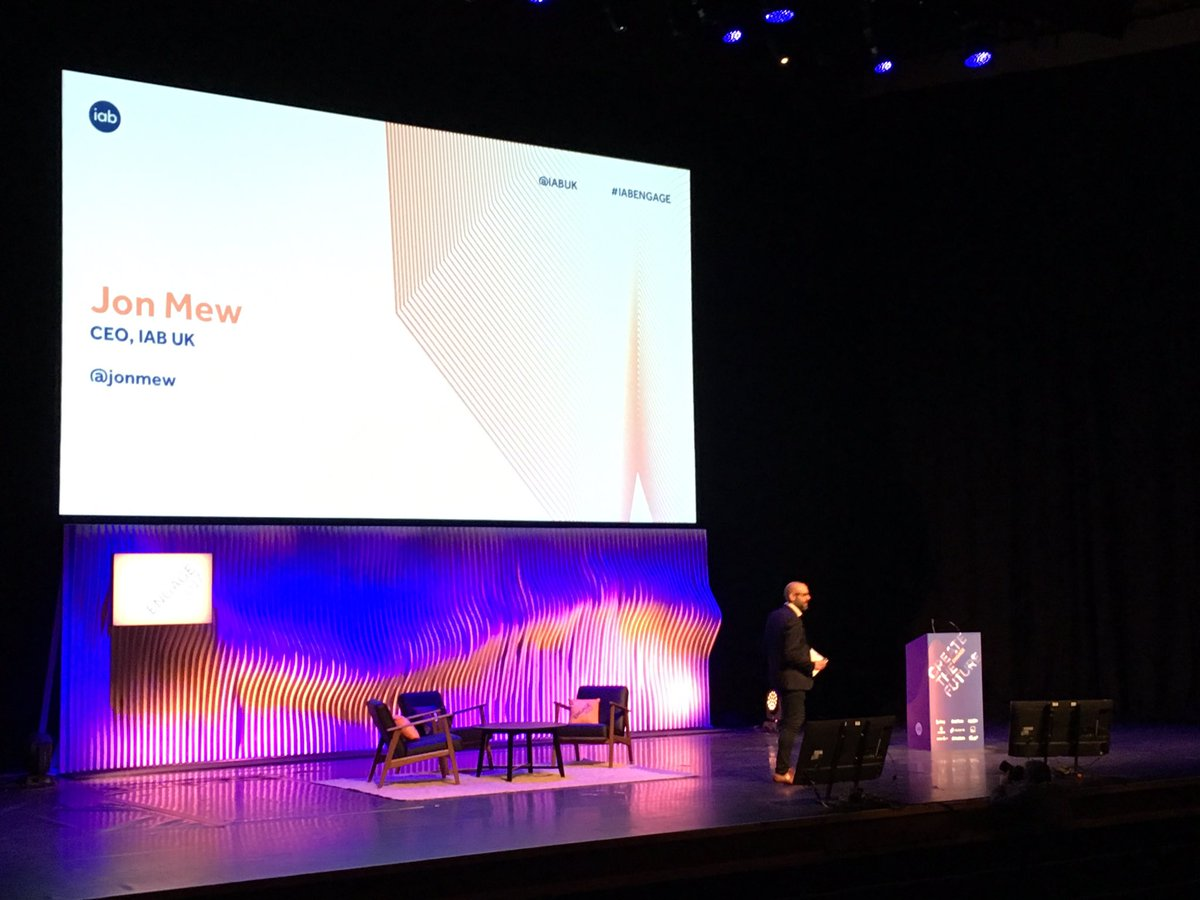 Good morning and welcome to #iabengage. @jonmew takes to the stage to...