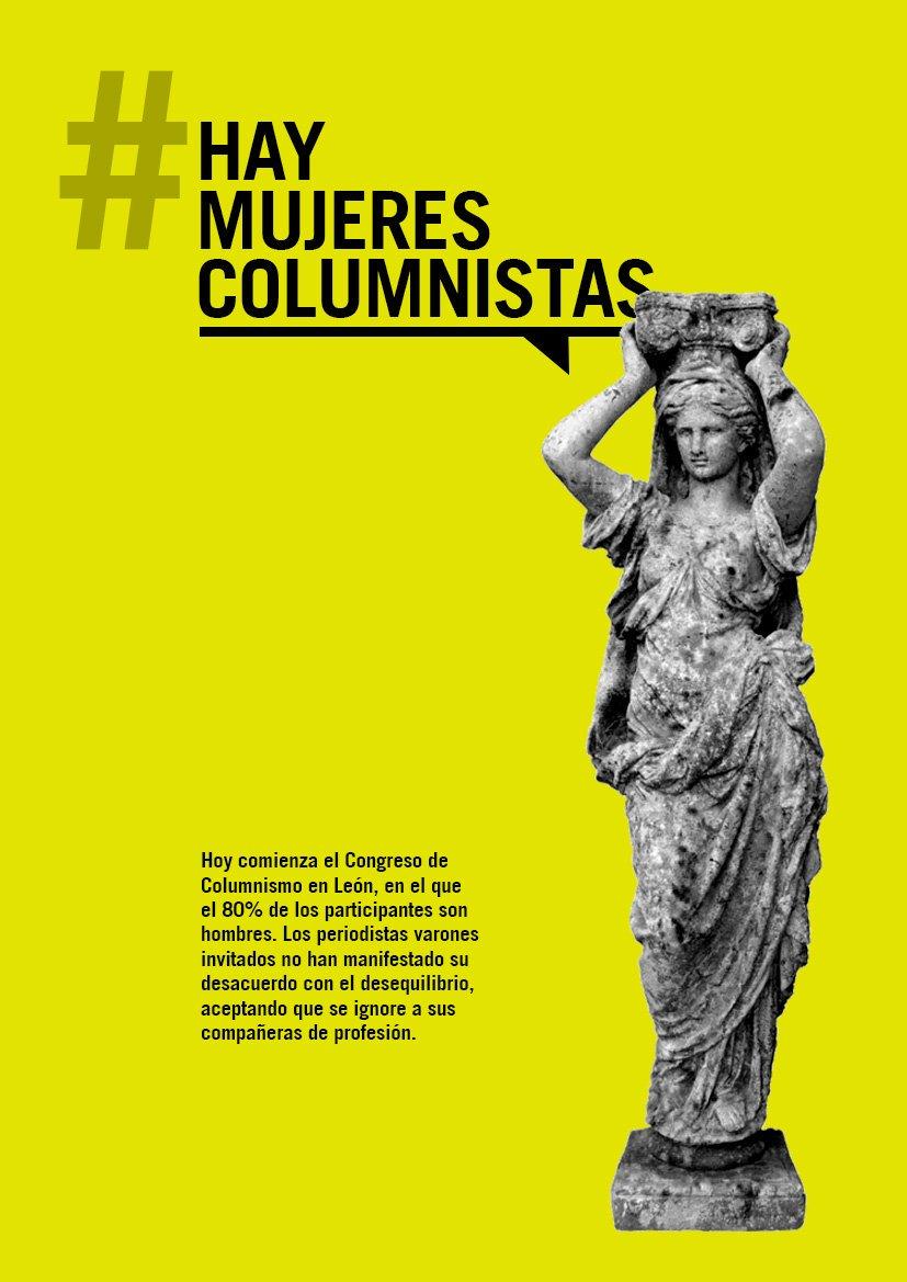 Empieza el congreso #HayMujeresColumnistas! ✌️ Súmate con #Leocolumnas...