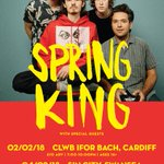 NEW SHOWS! @springkingband are coming to Cardiff @ClwbIforBach AND Swansea @SinCitySwansea this February! Tickets on sale Friday at 10am.