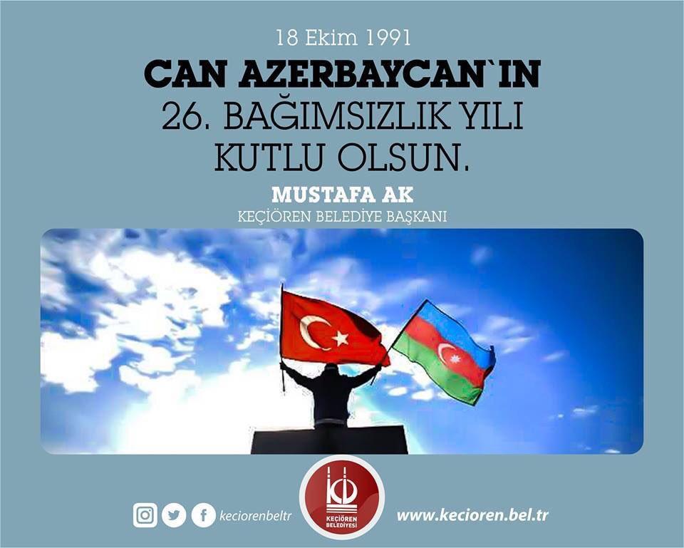 Can #Azerbaycan 'ın 26. Bağımsızlık yılı kutlu olsun. 🇦🇿️🇹🇷️ https://t...