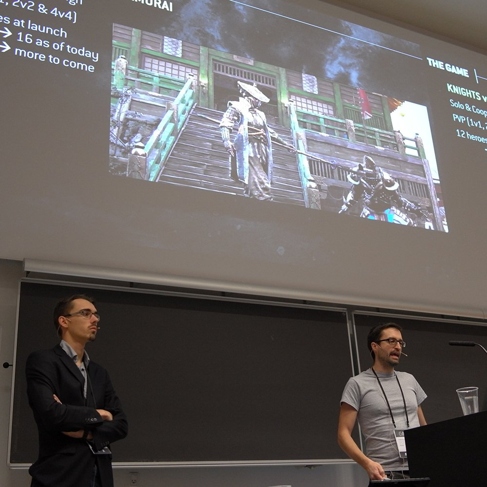 Olivier Delalleau and @amathlog on reinforcement learning as a production tool for AAA games at #gain17 <br>http://pic.twitter.com/0z0cH1enrA