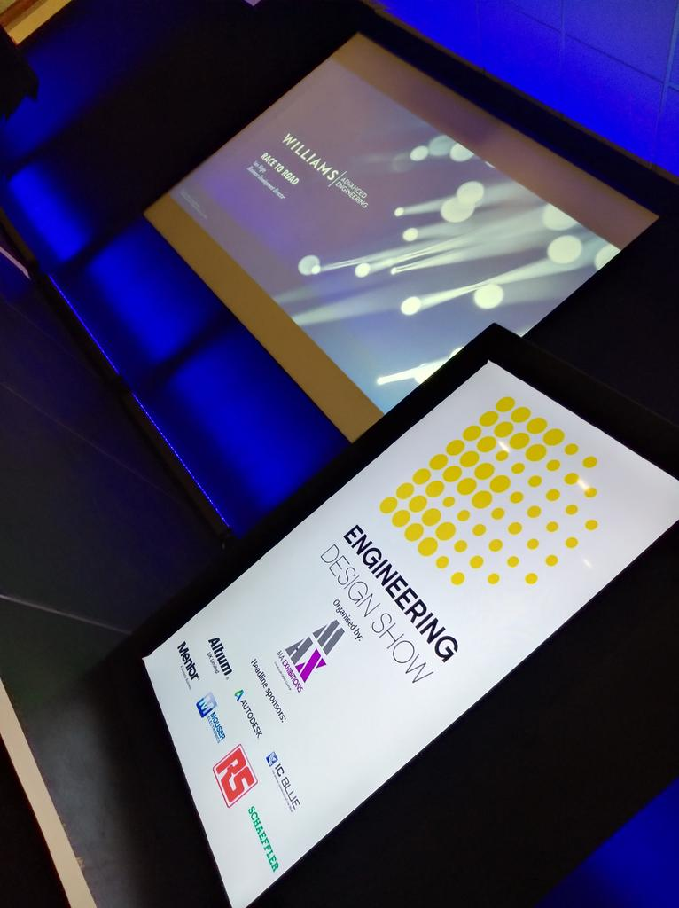Front row seats for &#39;Taking #F1 #technology mainstream&#39; conference @EngDesignShow #design #engineering #WilliamsF1 #eureka #innovation<br>http://pic.twitter.com/zyv4DQxkuw