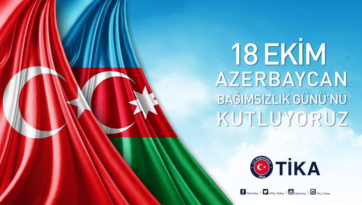 Dost ve kardeş ülke #Azerbaycan'ın 26'ncı #BağımsızlıkGünü'nü içten du...